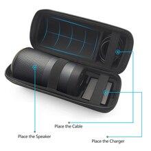 Yeni PU Seyahat Çantası Bose Soundlink Revolve Durumda EVA Taşıma Koruyucu Hoparlör Kutusu Kılıfı Kapak Için Ekstra Alan Fiş ve kablolar
