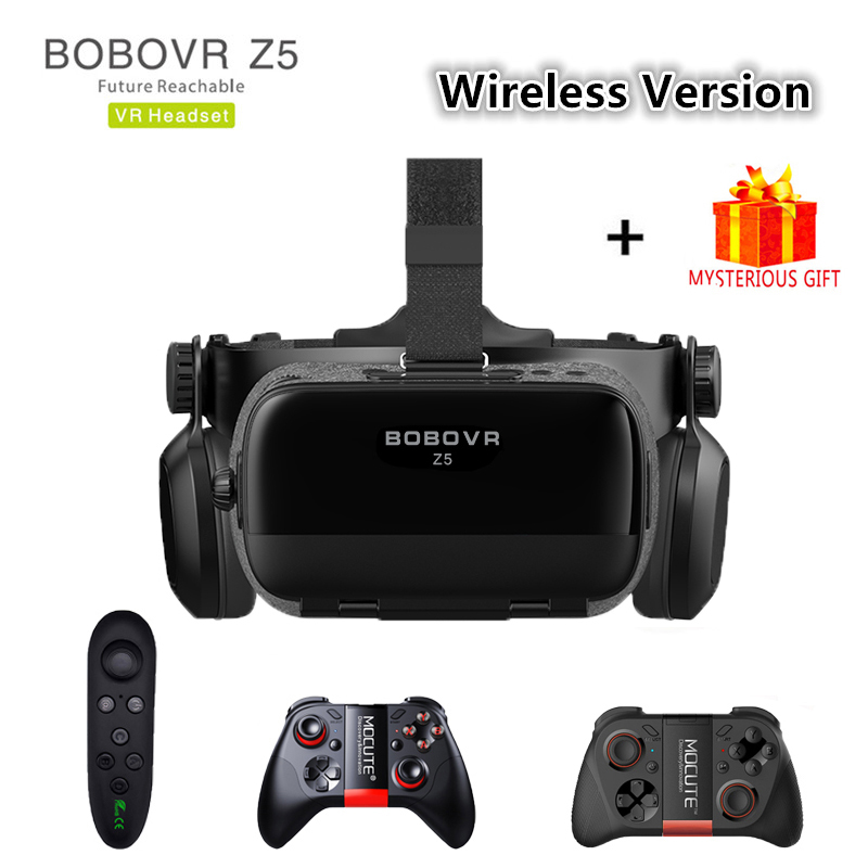 Bobovr Z5 Bobo VR Headset Bluetooth Helmet 3D Glasses Virtual Reality For iPhone Android Smartphone Smart