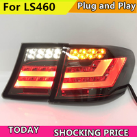 Car Style Tail lamp for LEXUS LS460 LS500 LS600 LED Tail light Fit 2006 2009 with Sequential Indicator turn light