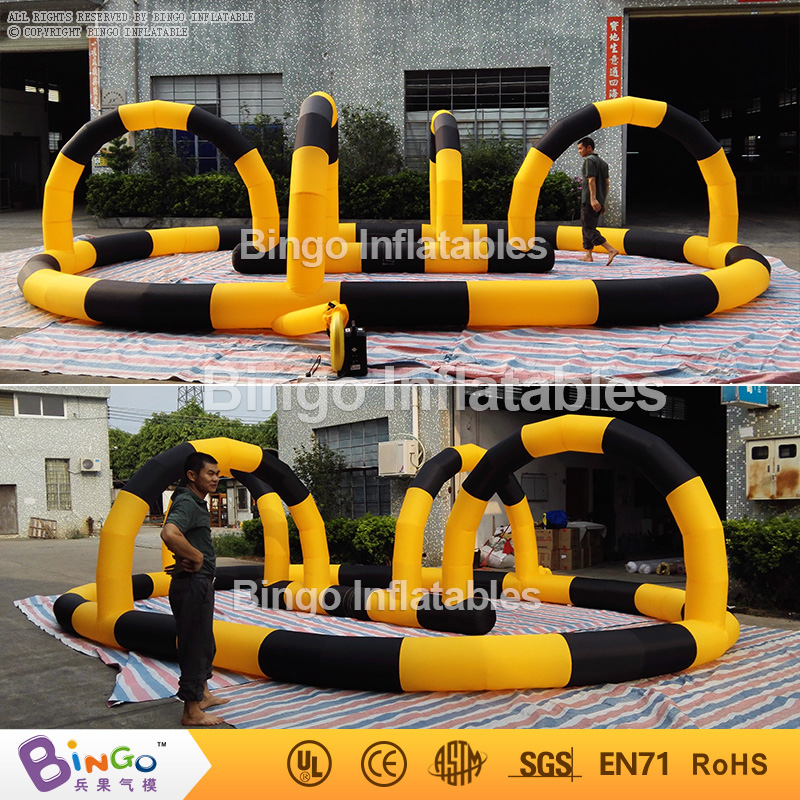 Free Delivery Outdoor 8M Inflatables air kart track barriers Oxford nylon cloth inflatable games for sale for kids toys inflatable zorb ball race track pvc go kart racing track for sporting party