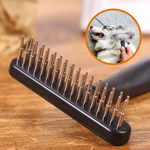 Comb Brush Dog Hair pet grooming Pet Grooming Cleaning Massage Removal Metal for Dogs