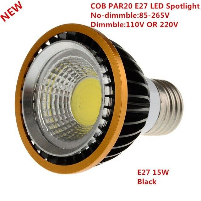 1 יחידות הכי חדש 15 3WCOB מנורת אור הנורה E27 ספוט PAR20 dimmable חם לבן/מגניב לבן/לבן תאורת Downlight זרקור Led