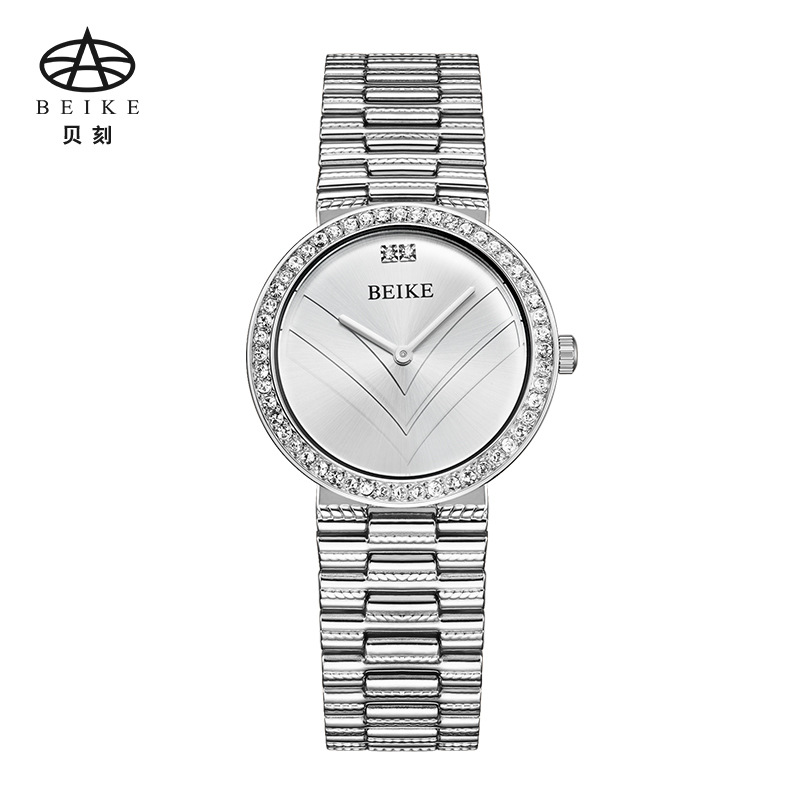 BEIKE Rose Gold Sliver Stainless Steel Watches Women Top Brand Luxury Casual Clock Ladies Wrist Watch Lady Relogio Feminino new brand gold casual quartz watch women stainless steel watches ladies wrist watch top luxury relogio feminino hot sale clock