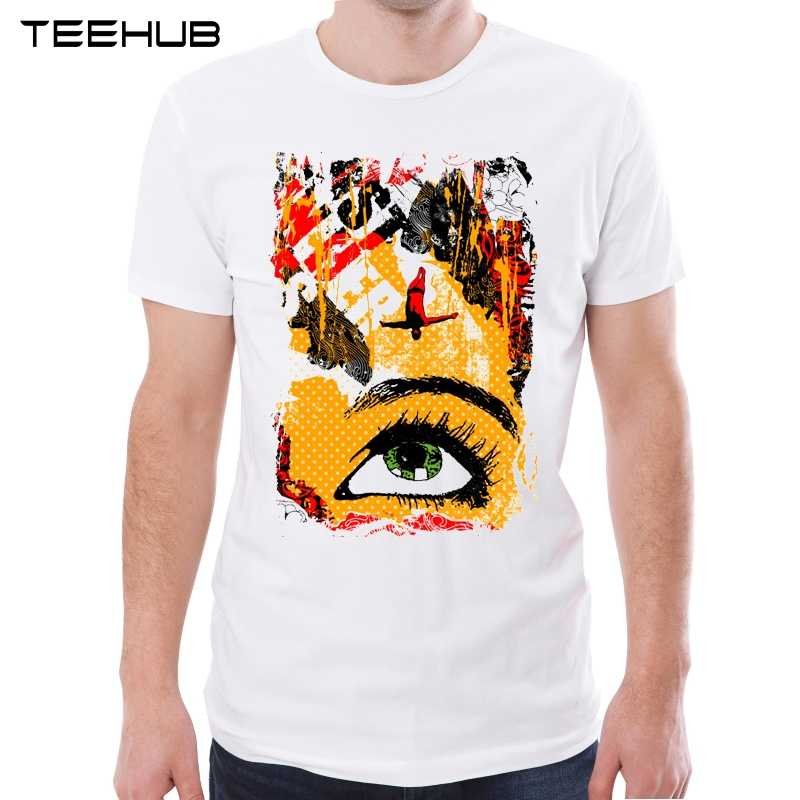 Teehub Новое поступление 2019 Мужская модная футболка с абстрактным принтом глаз футболка с короткими рукавами крутой для хипстеров Дизайн топы