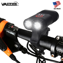 2000lm USB Rechargeable Front Bike Light 2x XM-L T6 LED Bicycle Lamp 5 Modes Cycling Headlight with Built-in Battery and Charger цены онлайн