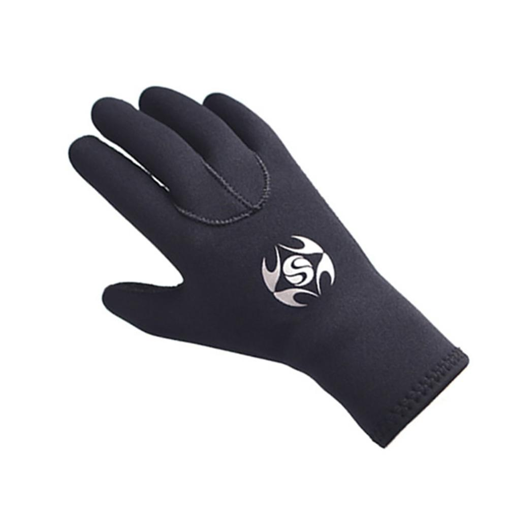 Diving Gloves Neoprene, Wetsuits Five Finger Gloves, 3MM Anti Slip Flexible Thermal Material For Snorkeling Swimming Surfing Sai