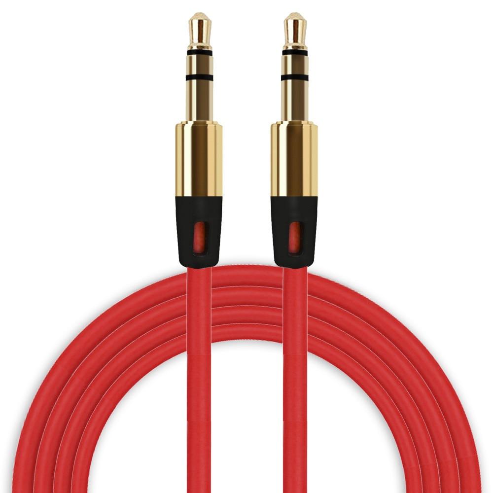 Preço de fábrica binmer venda quente de alta qualidade 3.5mm cabo auxiliar cabo áudio macho para macho plana aux cabo transporte da gota