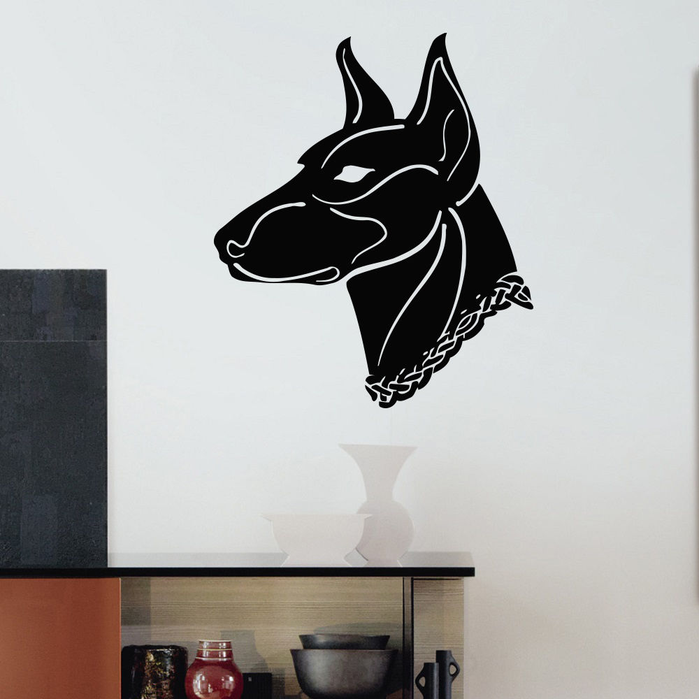 Handsome dog removable wall stickers pet shop grooming salon decor wallpaper - Decoration mural salon ...