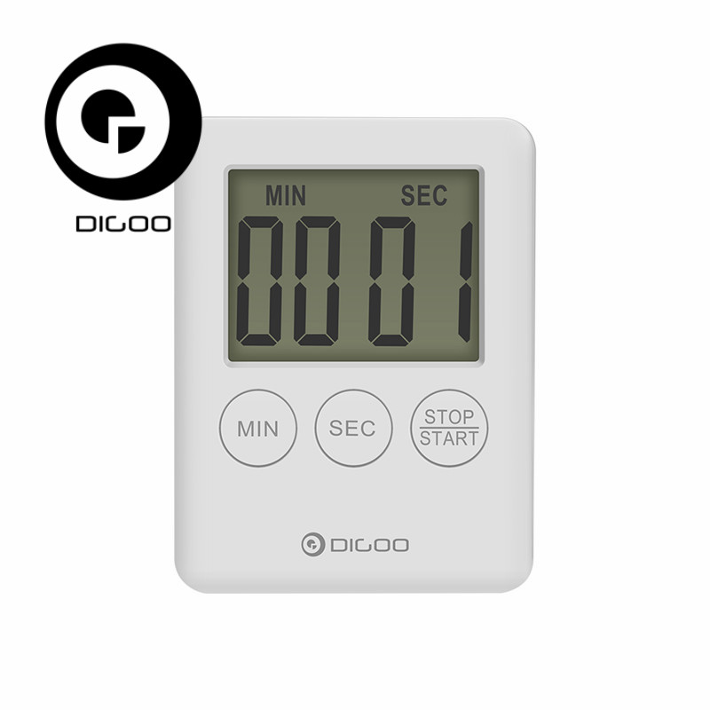 Digoo DG-TK30 Mini LCD Display Electric Digital Timer Loud Alarm Magnetic Backing Countdown Timer For Cooking Baking Kitchen