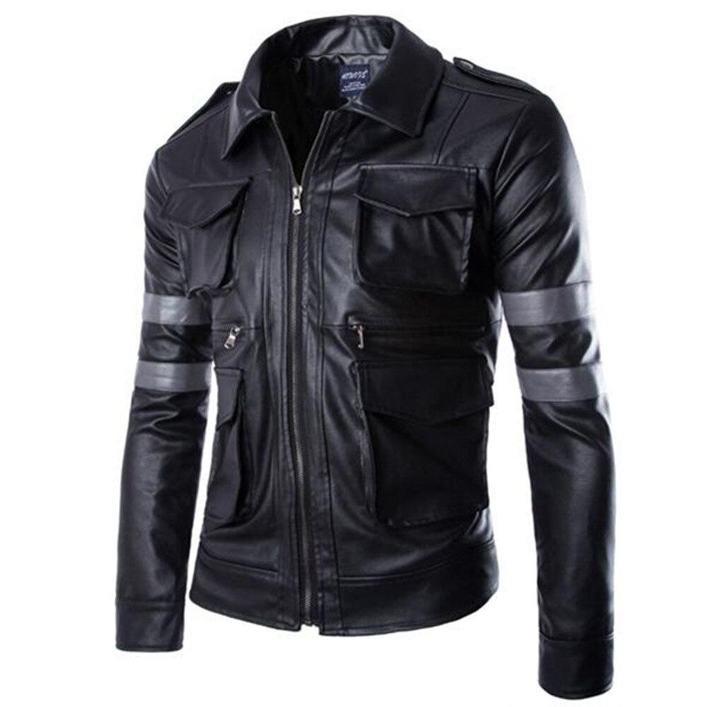 Nouveau mince Camping randonnée course équitation veste en cuir hommes bonne qualité confortable moto veste de plein air