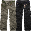 2018 High Quality Men's Cargo Pants Casual Loose Multi Pocket Military Pants Long Trousers for Men Camo Joggers Plus Size 28-40
