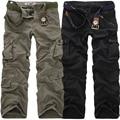 2018 de alta calidad de los hombres de Pantalones Casual Loose Multi bolsillo militar Pantalones largos para hombres Camo camisetas Plus tamaño 28-40