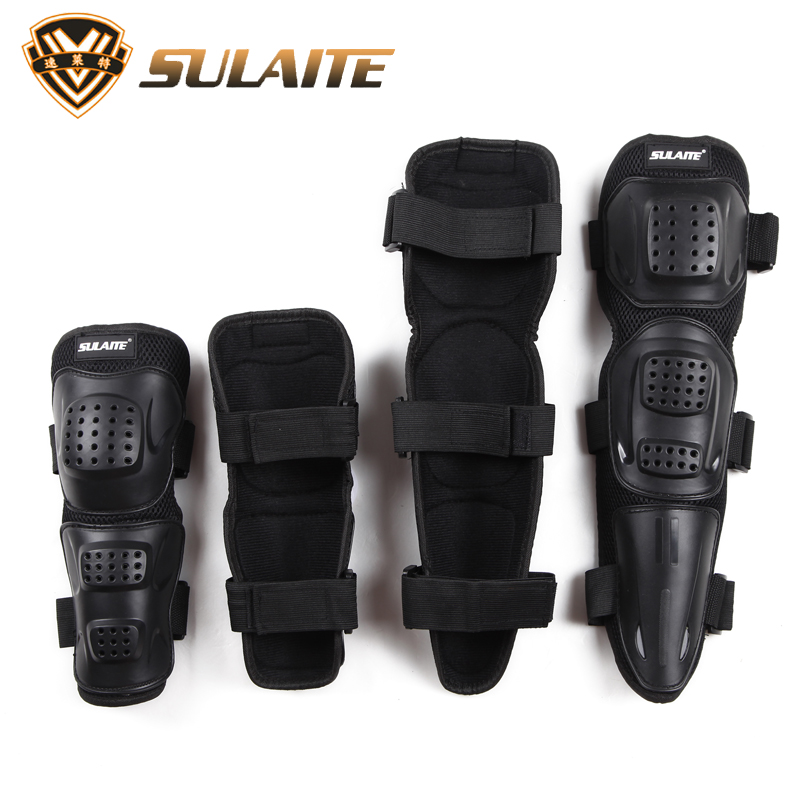SULAITE Motorcycle Riding Kneepad Motocross Off-Road Dirt Bike Elbow & Knee Protective Gear Set Brace Pads Protector Guard