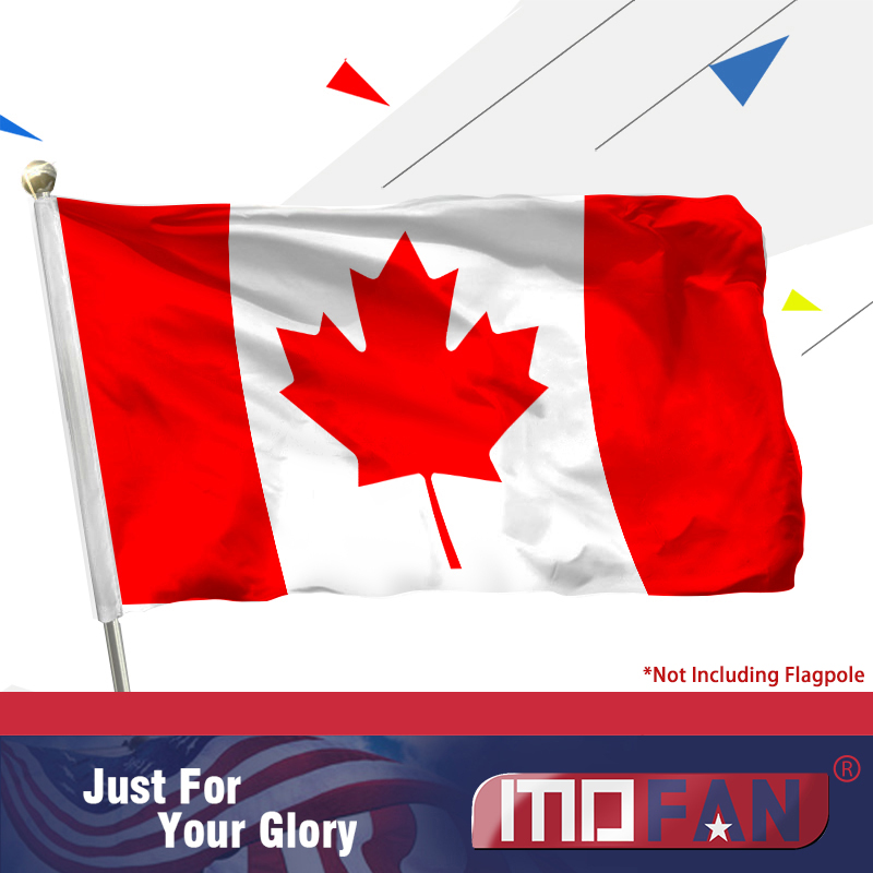 MOFAN Canada Flag Polyester - High Duality and Durable - Կանադական Maple Leaf Flags with Brass Grommets 3 X 5 Ft