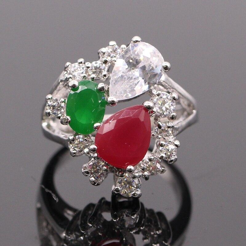 Aliexpress.com : Buy GZJY Beautiful Finger Rings Green Red Cubic ...