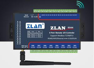 ZLAN6844 RS485 Wifi Ethernet RJ45 8 каналов DI AI DO RS485 Modbus I/O Модуль RTU сборщик данных пульт дистанционного управления плата модуль