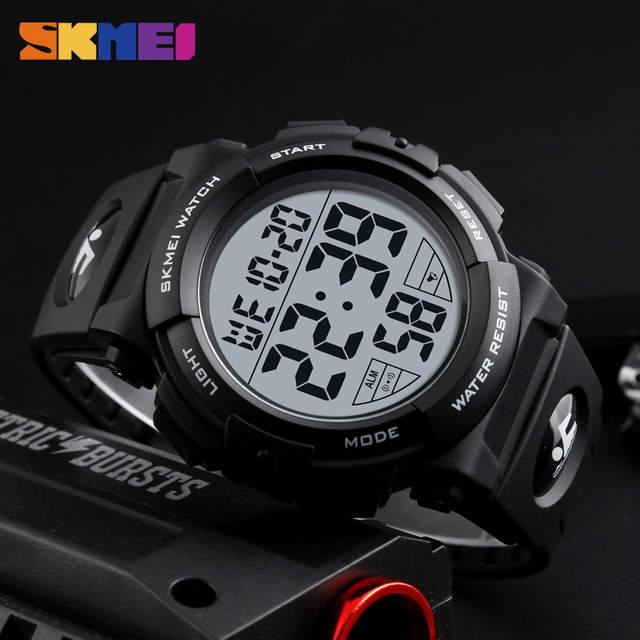 44e0d4da7a3 SKMEI 1258 Homens Digital Relógios de Pulso Big Dial 50 M Cronógrafo À  Prova D