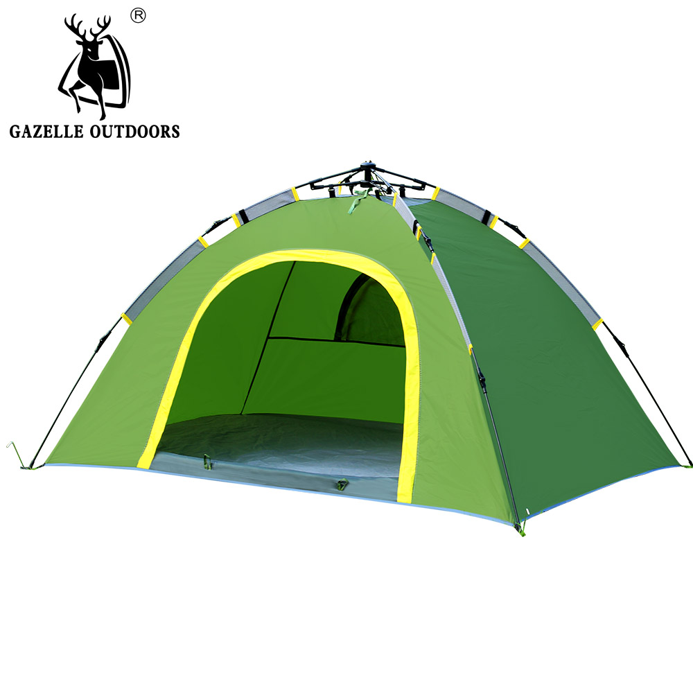2 person Automatic Open Tent,Waterproof Outdoor Camping Tent 200*140*105cm for Double Person outdoor camping hiking automatic camping tent 4person double layer family tent sun shelter gazebo beach tent awning tourist tent