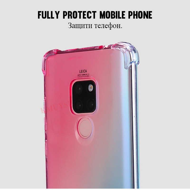 Чехол с градиентными цветами для huawei P Smart 2019 Y9 Y7 Y5 2018 Коврики 20 Lite 20X P30 P20 Pro Nova 4 3 3i на Honor 8X 8A 8C 7C V20 Капа