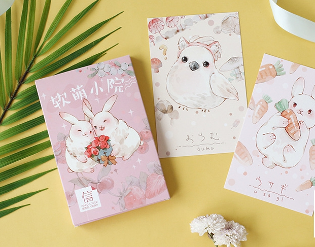 14.3cm*9.3cm Animal Home Paper Postcard(1pack=30pieces)