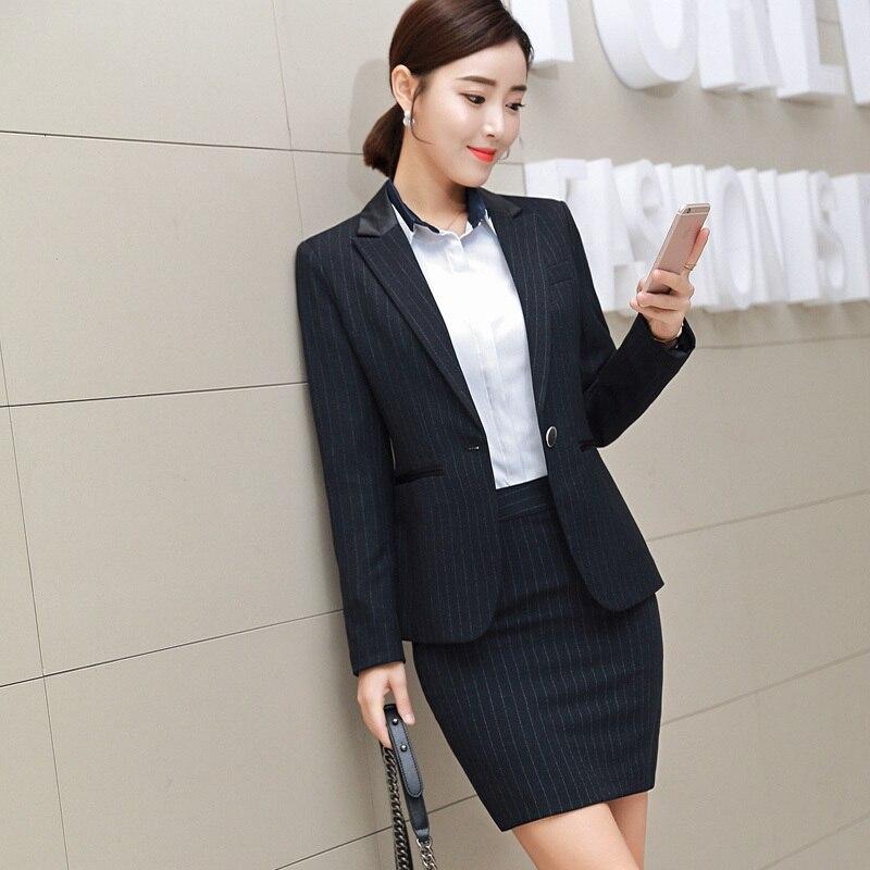 Jacket 2pcs Suits Formal Interview Uniform Work Business Boss
