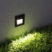 4 шт. в упаковке 3 Вт Светодиодный светильник для лестницы со встроенной коробкой алюминиевый ступенчатый светильник s наружный светодиодный настенный светильник для ног водонепроницаемый IP65 BL04X