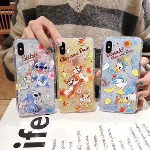Cute Cartoon Chip Dale Stitch Donald Duck phone case cover for iphone 6 6s 7 8 pLUS X XS MAX XR Thick silicone fundas(China)