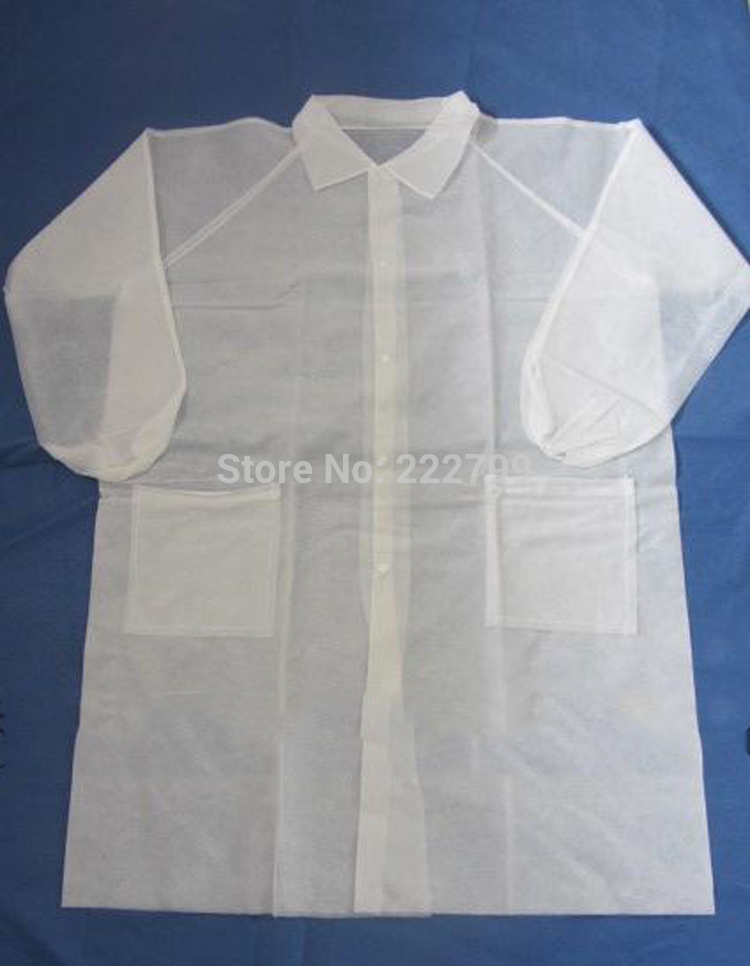 Aliexpress.com : Buy Thickening pocket white coat buttons apron ...