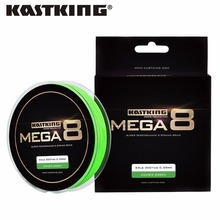 KastKing Mega8 New Braid Line 300Yds/274M 0.14-0.50mm 10-80LB 8 Strands Super Strong Green Braided Fishing Line for Sea Fishing