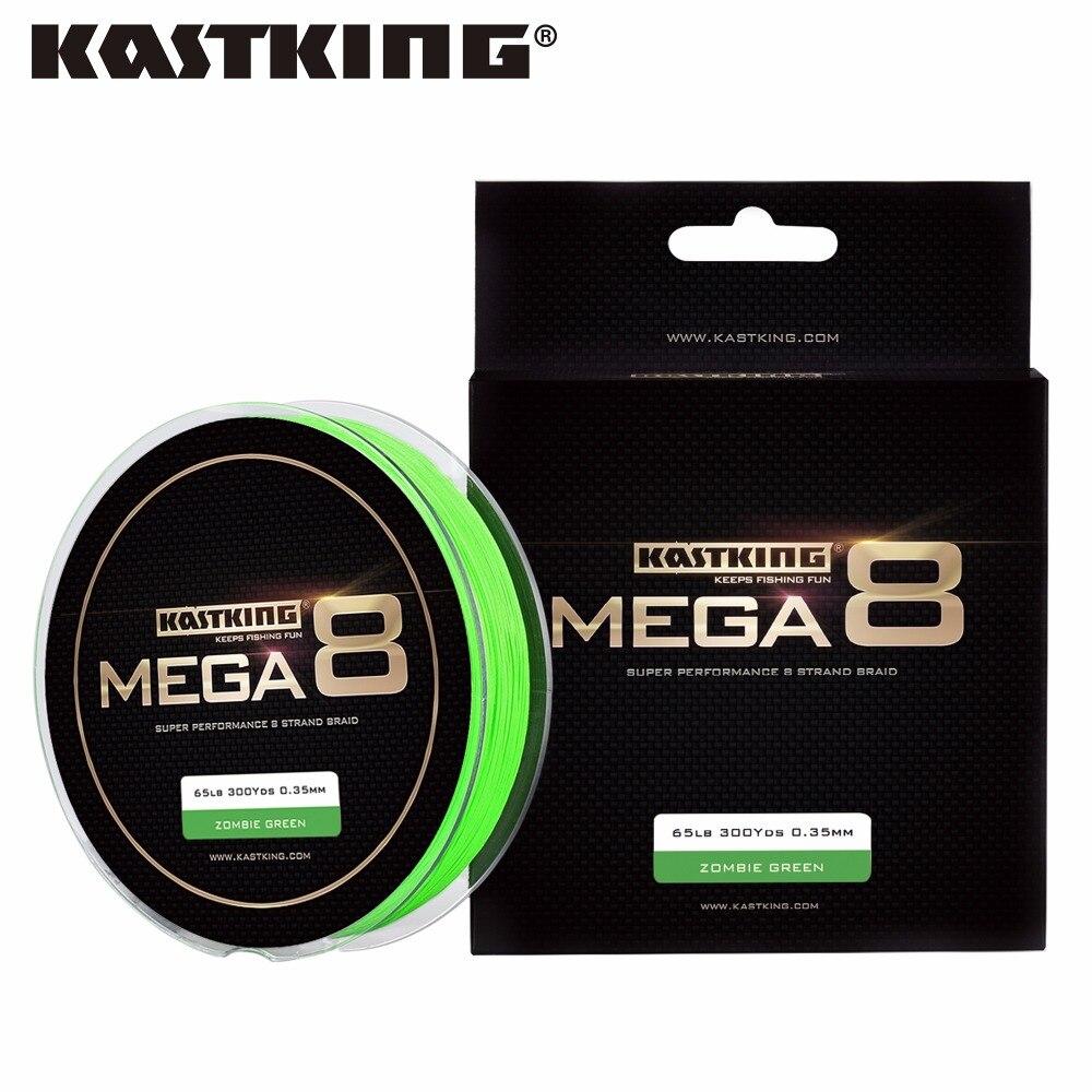KastKing Mega8 Nueva Línea Braid 300Yds/274 M 10-80LB SEDAL 8 Strands 0.14-0.50m
