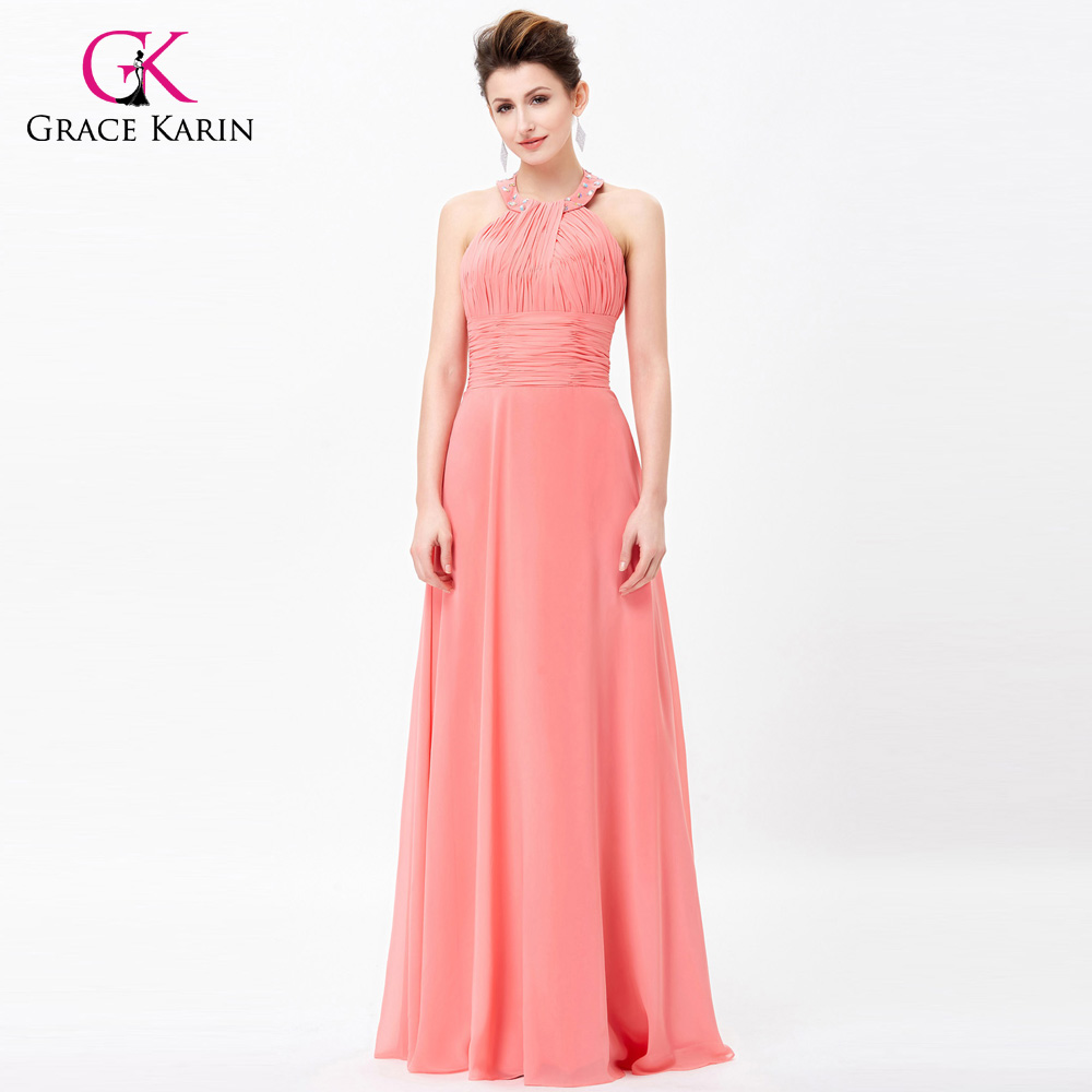 ✅Grace Karin Womens Evening Dresses 2018 Summer Halter Chiffon Open ...
