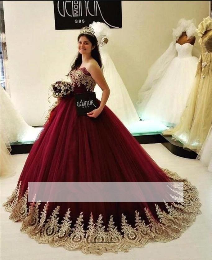 Burgundy Puffy 2019 Cheap Quinceanera Dresses Ball Gown Sweetheart Tulle Appliques Lace Sweet 16 Dresses