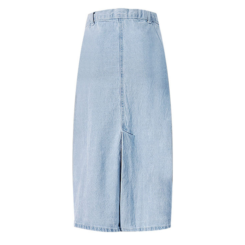 bf650627d362 LOGAMI High Waisted Denim Skirt Midi Skirts Womens Knee Length Jeans A Line  Skirt Saia Summer Faldas Mujer 2017-in Skirts from Women's Clothing on ...
