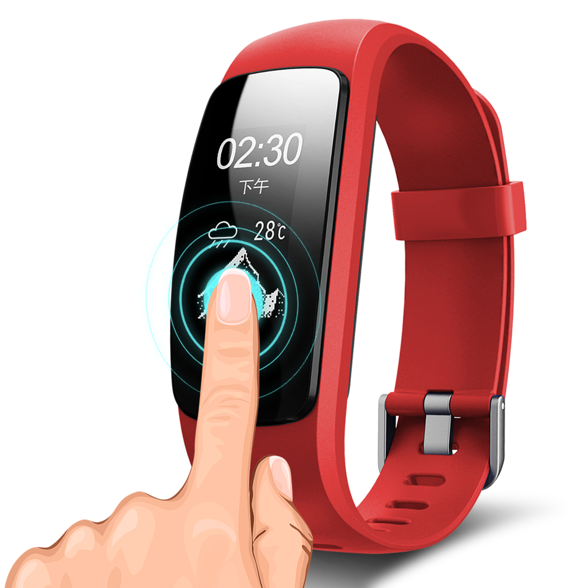Sport Blood Pressure Oxygen Smart Bracelet Bluetooth 4.0 Smart Watch for Android IOS Sleep Monitor Bracelet Clock Fort 107 P mpow d6 smart bracelet for ios android phones