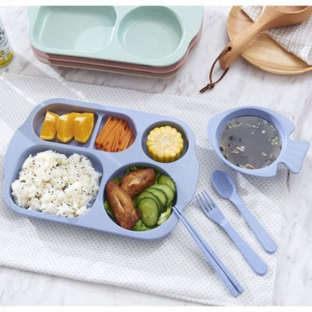 tokolife baby plate bowl set dinnerware feeding set kids plate