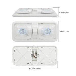 Image 4 - 12V RV Decke Dome Licht RV Innen Beleuchtung 48 Led 5050 für Boot Camper Anhänger Camper mit Schalter 6000 k 6500 k Klare Licht