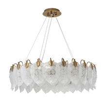 modern Chandelier Personality Glass Tree Leaves Living Room Designer Creative Art Restaurant Bedroom Lighting