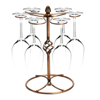 Stainless Steel Wine Bottle Holder Hanging Upside Down Glass Cup Goblets Display Rack Iron Wine Stand