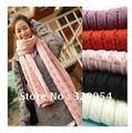 Frete grátis, 2012 nova moda cachecol, xale de lã, espessamento, mohair lenço feito malha, Rosa, vermelho, preto, bege, cinza Claro, atacado