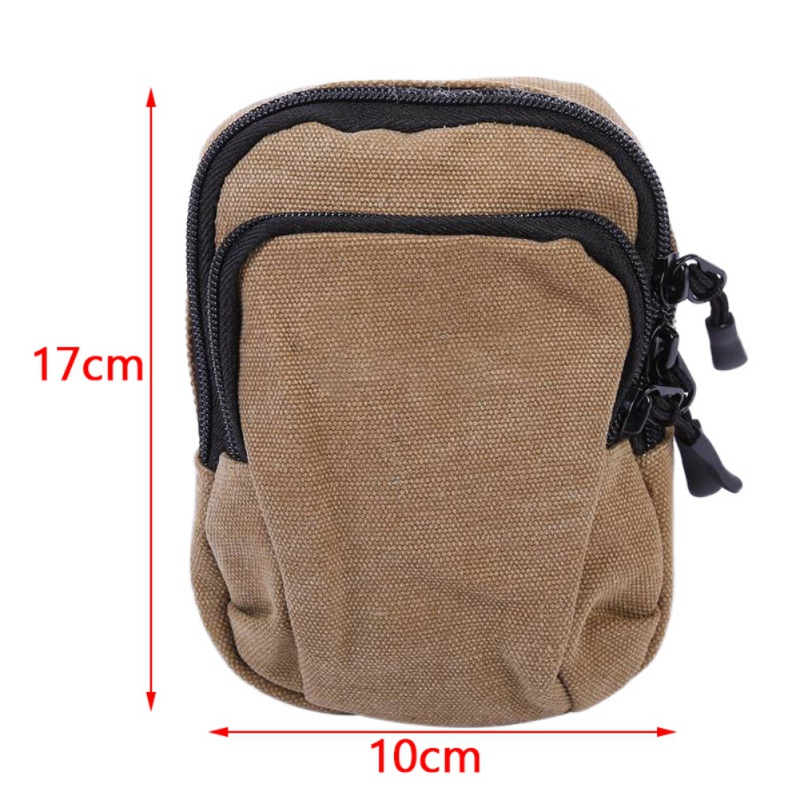Newly Designed Portable Running Hunting Waist Bag Zippered Layers ... 06e3171812ef3