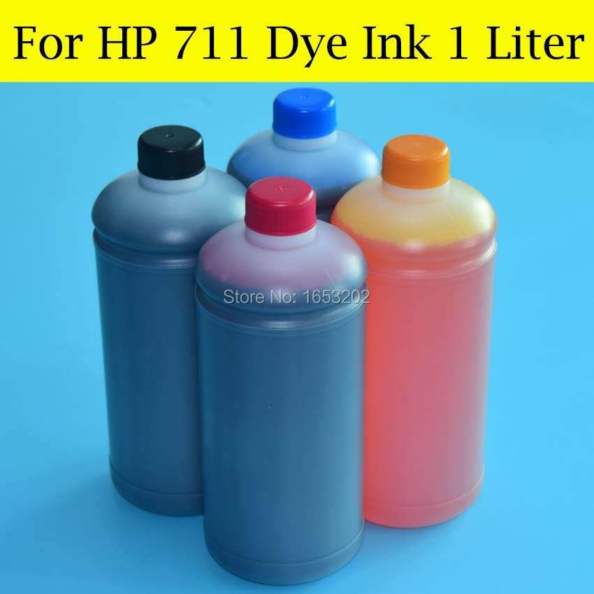 4 Liter/Lot HP711 Dye Ink For HP Designjet T120 T520 36-Inch 24-inch Printer CISS System Ink Cartridge