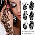 Tatuajes desechables left right hand novia India mano Tatuaje plantilla de creación Artística, modelo retro, tendencia, estilo Árabe T005