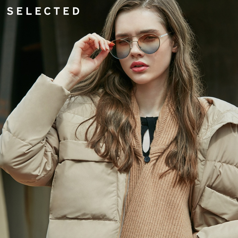 SELECTED Women s Stand up Collar Short Duck Down Jacket S 418412542