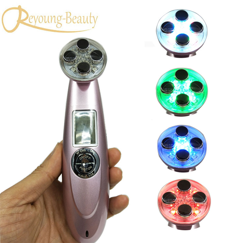 Vibrating EMS RF Radio Frequency Wrinkle Acne Removal Face Lifting Collagen Tighten Skin Whitening Led Photon Beauty Device