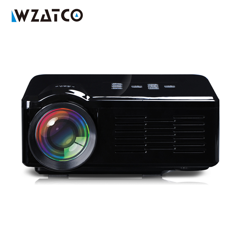 все цены на  WZATCO BL-35 1000Lumens LCD LED HD Video 3D Home Theater Mini TV DVD game Projector Proyector Beamer Projetor factory wholesale  онлайн