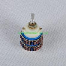 1pc  4Pole 24 Step DALE Attenuator Volume Pot Stereo Potentiometer 10KY Tube Amp