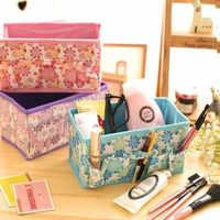 Caja organizadora organizador de maquillaje organizador de caja de almacenamiento de cosméticos bolsa de Color brillante plegable contenedor estacionario de maquillaje organizador caja de reloj