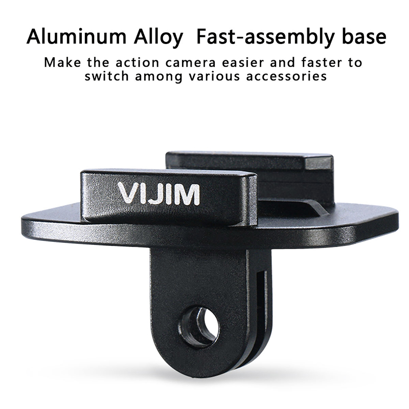 VIJIM GP 2 Aluminum Quik Release Base for Action Cameras Quick Install Plate for Gopro765 Osmo Action EKEN SJCAM Action Cameras in Photo Studio Accessories from Consumer Electronics