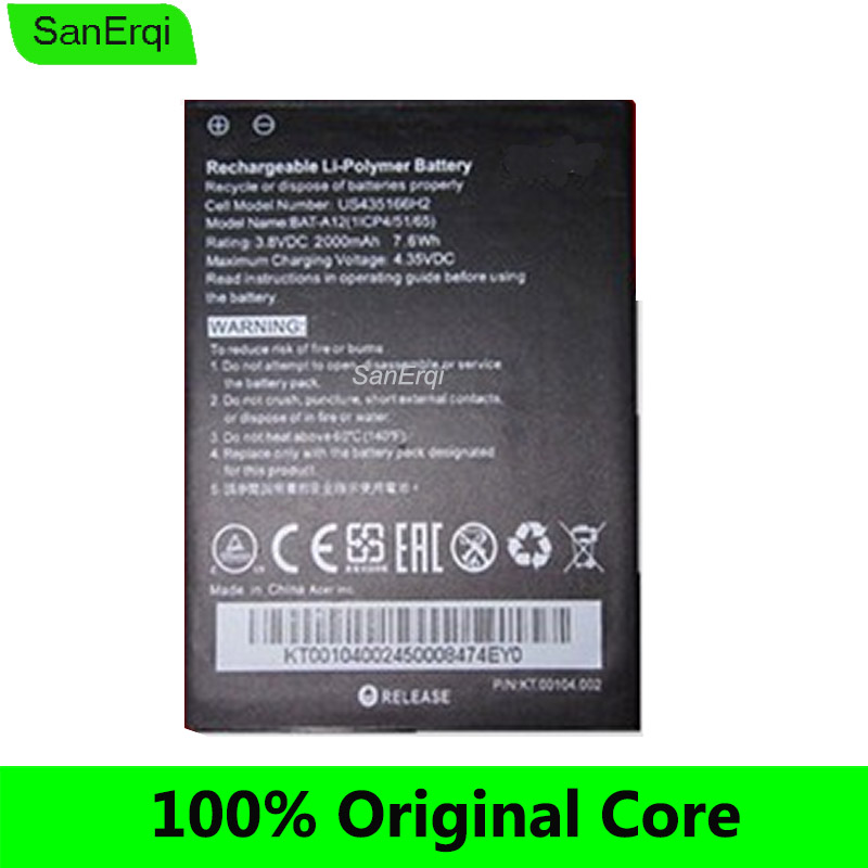 Bateria para acer liquid BAT-A12 Z520 Batterie Bateria Dual SIM (P/N BAT-A12 (1ICP4/51/65) KT.00104.002) 2000 mah