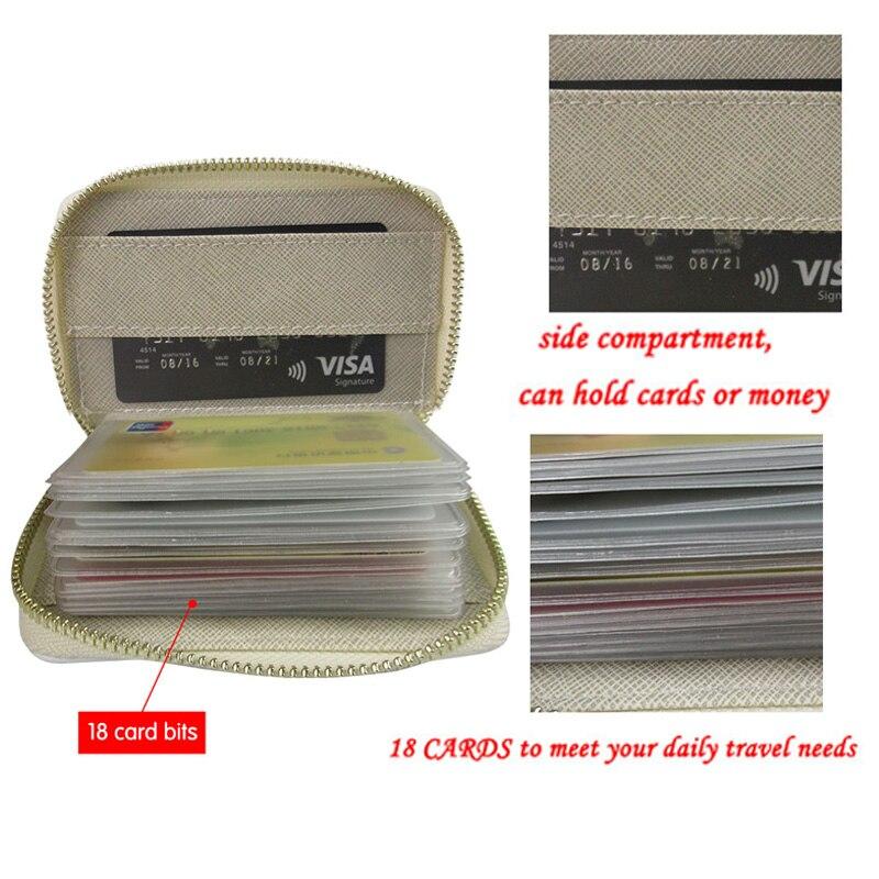 Movie Theme Zipper Card Holder PU Leather Function 18 Bits Card Case Women Girls Credit Passport Card Bag ID Passport Wallet